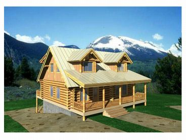 Log Home Design, 012L-0018