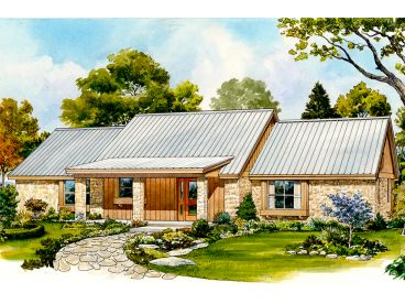 Ranch Home Plan, 008H-0046