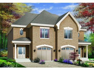 Duplex House Plan, 027M-0018