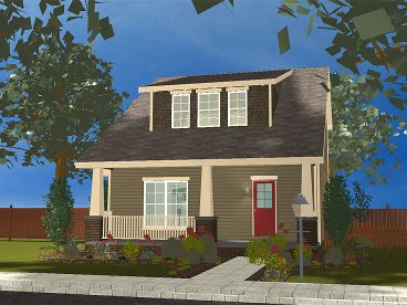 Bungalow Home Plan, 050H-0095