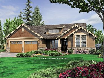 1-Story Craftsman Home, 034H-0007