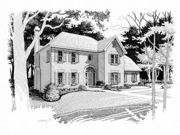 Colonial House Plan, 007H-0052