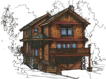 Narrow Lot House Plan, 025H-0196