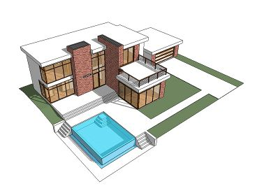 Contemporary Home Plan, 052H-0002