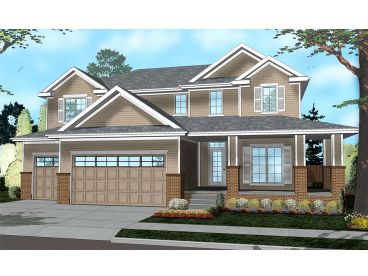 Two-Story House Plan, 050H-0112