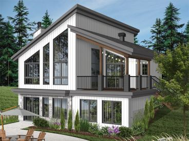Waterfront House Plan, 027H-0505
