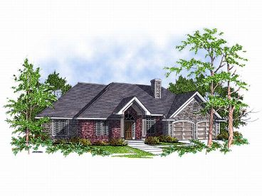 Ranch House Plan, 020H-0005