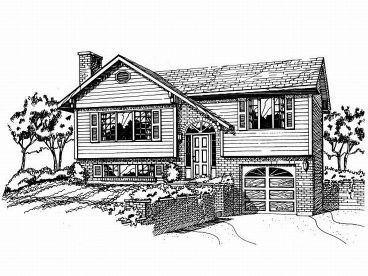 Split-Level Home Plan, 032H-0015