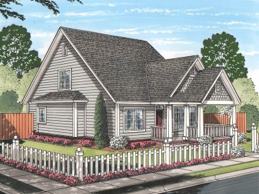 Narrow Lot Home Design, 059H-0199