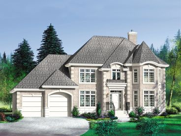 Two-Story House Plan, 072H-0127