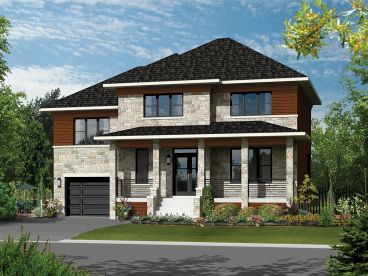 Two-Story Home Plan, 072H-0165