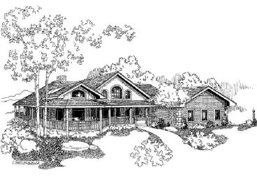 Country House Plan, 013H-0100