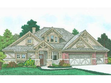 Craftsman House Plan, 002H-0136
