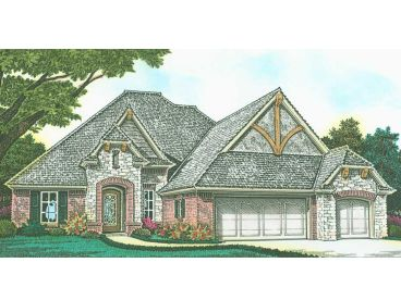 European House Plan, 002H-0125