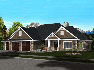 Ranch House Plan, 083H-0013