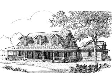 Country Home Plan, 054H-0013