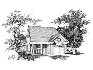 Narrow Lot Home Plan, 061H-0019
