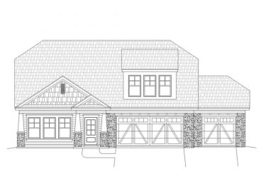 Two-Story Craftsman Home, 062H-0057