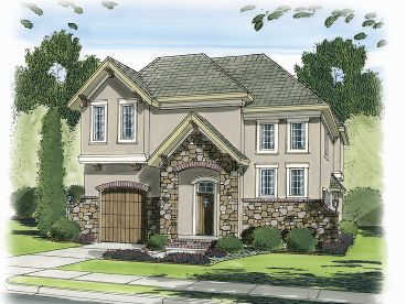 Narrow Lot Home Plan, 050H-0086