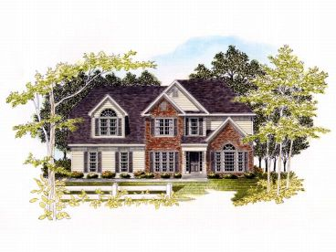 Two-Story House Plan, 019H-0115