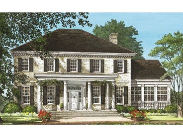 Colonial House Plan, 063H-0064