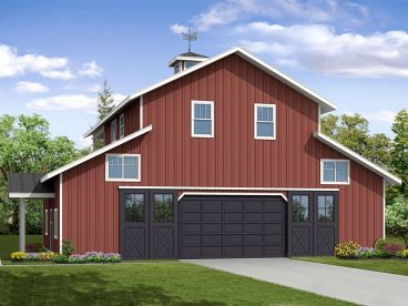 Unique Garage Apartment Plan, 051G-0106