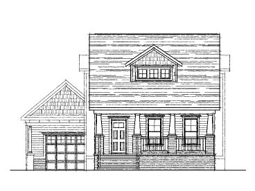 Bungalow Home Plan, 058H-0024
