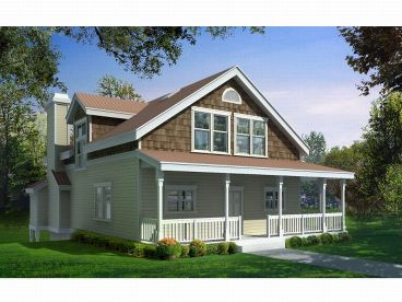 Narrow Lot Home Plan, 026H-0074