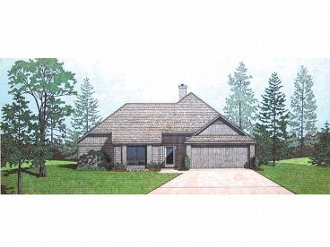 Ranch Home Plan, 021H-0055