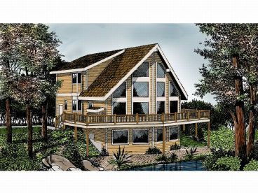 A-Frame House Plan, 026H-0042