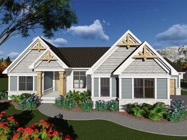 Craftsman House Plan, 020H-0412