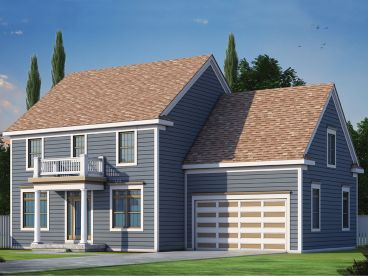 Colonial House Plan, 031H-0274