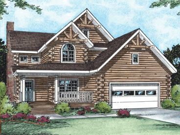 Log House Plan, 031H-0021