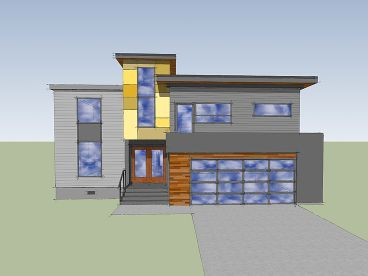 Contemporary House, 056H-0002