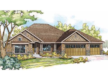 Ranch House Plan, 051H-0187