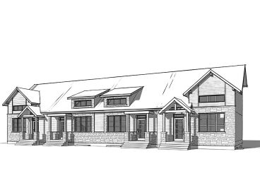 4-Unit Multi-Family Home Plan, 027H-0073