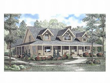 Log Home Design, 025L-0013