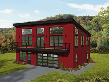 Modern Carriage House Plan, 062G-0258