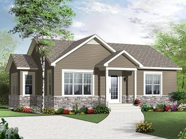 Cottage Home Plan, 027H-0233