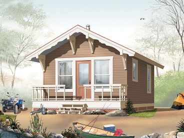 Vacation Home Plan, 027H-0152