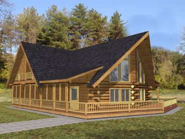 Log House Plan, 012L-0067