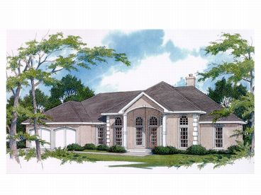 Sunbelt House Plan, 004H-0067