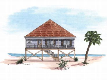 Beach Bungalow Design, 017H-0001