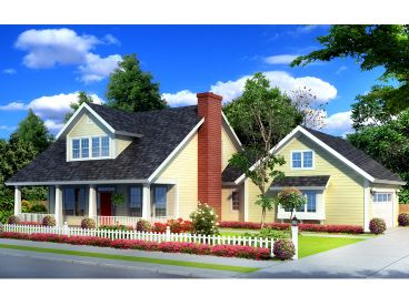 Bungalow Home Design, 059H-0137
