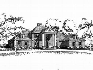 Colonial Home Plan, 036H-0038