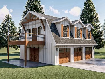 Carriage House Plan, 050G-0094