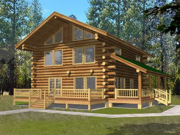 Log Home Design, 012L-0066