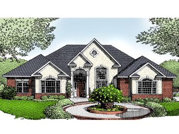 European House Plan, 044H-0009