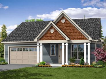Empty-Nester House Plan, 051H-0258