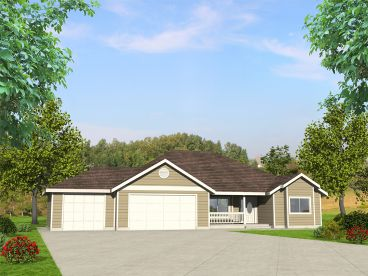 Traditional Ranch House Plan, 012H-0243